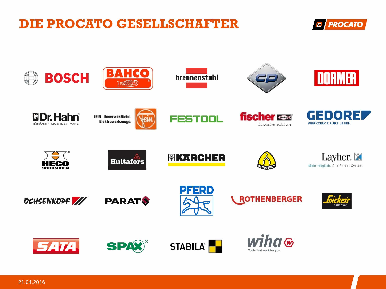 Die Gesellschafter von Procato, Stand April 2016
