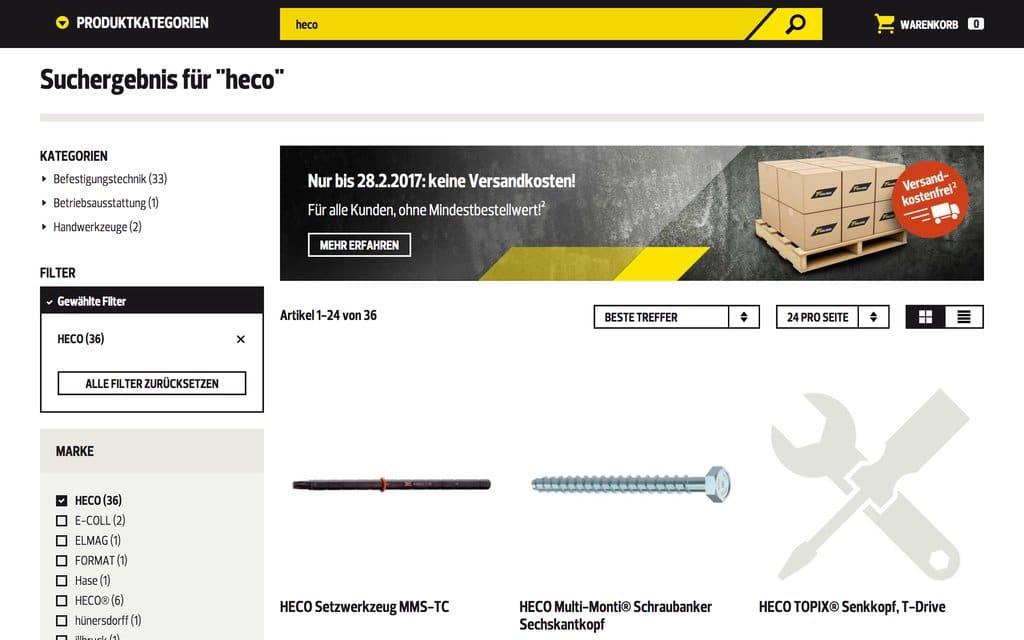 """Ein """"Markenshop"""", Toolineo-Style. SIe sehen, dass Sie (fast) nichts sehen (Quelle: Screenshot Toolineo)."""