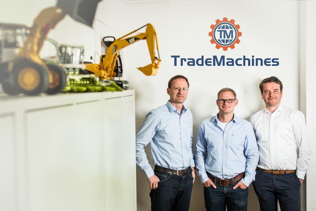 Wieland Knodel, Dr. Heico Koch und Philipp Klöckner (Quelle: trademachines.de).