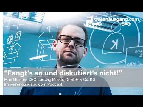 Max Meister von der Ludwig Meister GmbH & Co. KG im warenausgang.com Interview