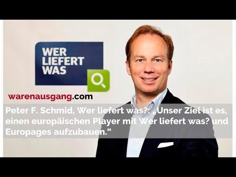 Wer liefert was? CEO Peter F. Schmid im warenausgang.com Interview