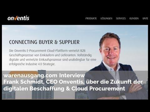 Onventis CEO Frank Schmidt im warenausgang.com Interview