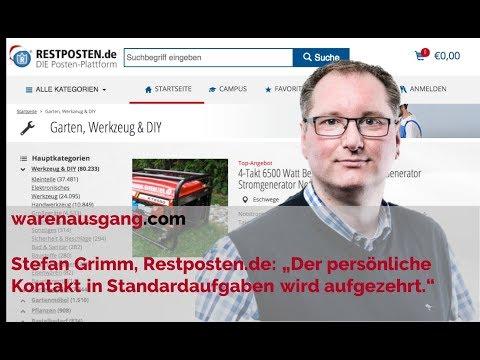 Restposten.de Gründer Stefan Grimm im warenausgang.com Interview