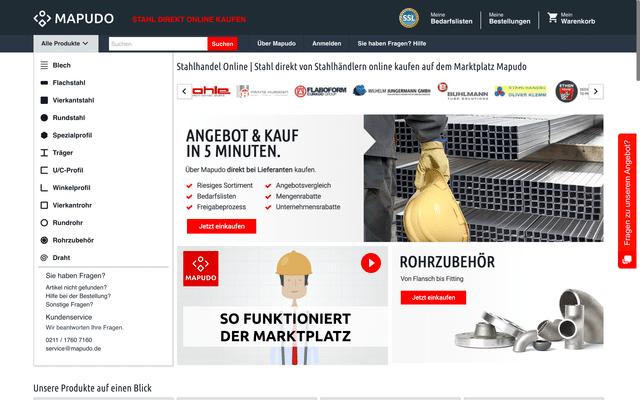 """Macht keine """"Faxen"""": Mapudo will den Stahlhandel digitalisieren (Quelle: Mapudo.com)"""