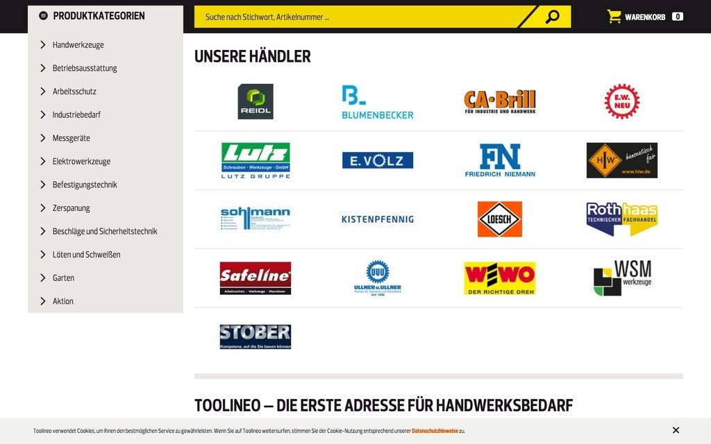 17 Händler bilden aktuell die Sell-Side auf Toolineo (Quelle: toolineo.de, Stand: 19.12.2016)