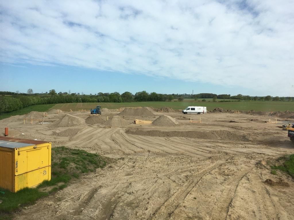 Hier entstehen vorerst 2.400 Quadratmeter Lagerfläche, die Voltus Unabhängigkeit in der Beschaffung und Logistik verschaffen (Quelle: Voltus.de)